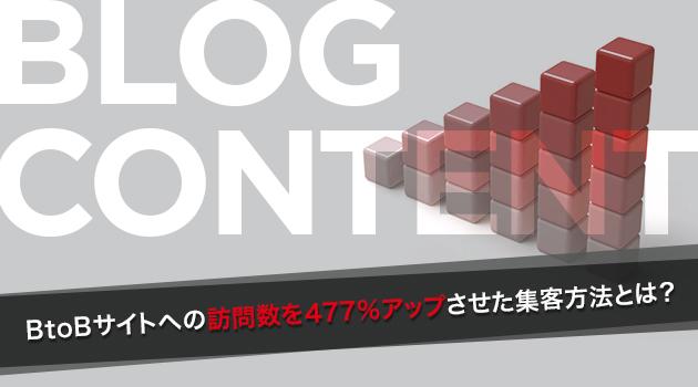 8か月でWEBサイトへの訪問数477%増加。BtoB企業サイトでの集客方法とは?
